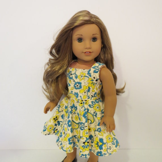 """18"""" Doll Clothes - Soft Corduroy Dress/Jumper - Made to fit AG or similar 18 inch dolls"""