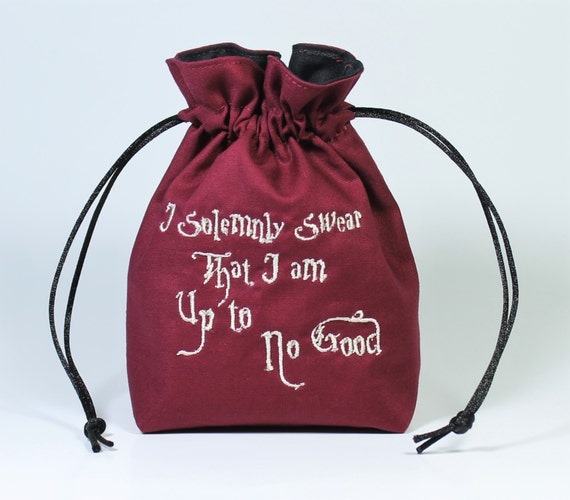 SALE Wizard Map Drawstring Bag, Dice Bag