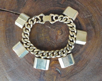 Heavy Gold Tone Bracelet