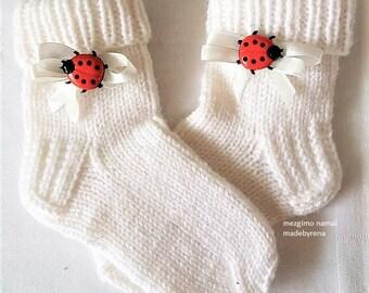 Babysocken Kindersocken Socken Handgestrickt