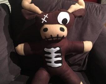 Zombie moose / zombie reindeer / monster plush
