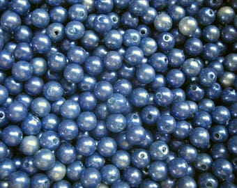 Plastic beads 3 ounces 6mm