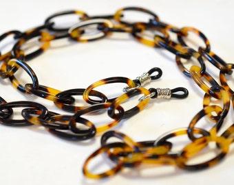 Faux Tortoise Eye Glass Chain