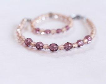 easter basket filler / easter gifts for little girls / girl bracelet / amethyst doll bracelet / american girl dolls / big sister gift