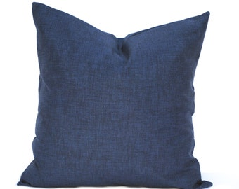 One Navy pillow cover, Home decor, decorative pillow, throw pillow, Blue pillow, Navy pillow, Navy solid Pillow