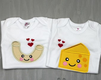 Personalized Twin Set Bodysuits - Twin Shower Gift - Sibling Clothes - Twin Outfits - Funny Twin Clothes - Twin Gifts