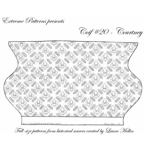 RCCoif #20 - Courtney cofia bordado patrón de patrones de extrema ...
