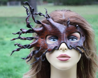 leather spiral bark mask