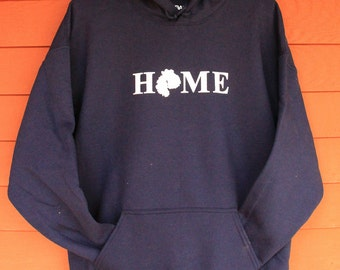 MDI HOME SweatShirt  - NAVY w/White Adult Sizes 2XL/3XL