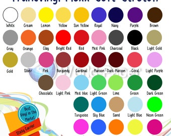 """12"""" x 15""""  T-Shirt Iron-on Soft Stretch Heat Transfer Vinyl Sheet - You pick your color."""