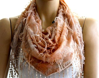 butterfly scarf - laced scarf - scarves - summer scarf - fashion scarf - lace scarf - cream lace scarf - lace scarves - spring scarf