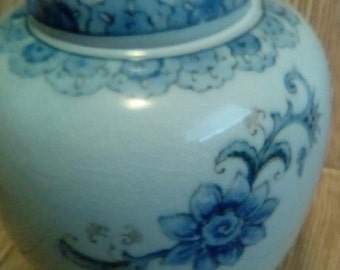 Andrea by Sadek Vase | Blue and White Urn | Floral Urn | Vintage Living Room Decor