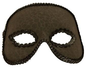 Adolpho Grey Textured Masquerade Mask for Men A-2611