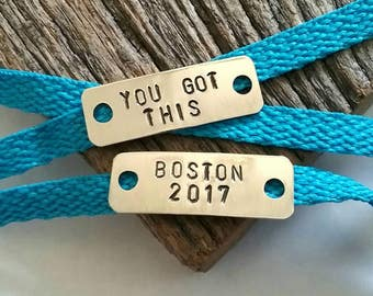 Boston Marathon Shoe Tags You Got This Message Tag 26.2 Marathon Jewelry Running Gift Finisher Gift Running Girl Shoe Clips NYC Marathon Men