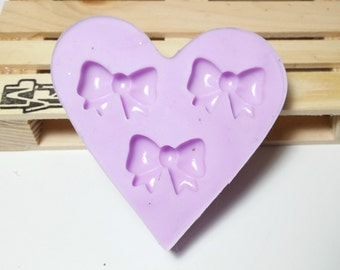 Silicone rubber mold - 3 flakes / bow