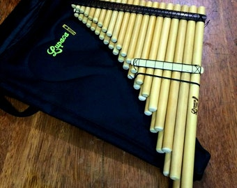 Professional Pan Flute Zampoña Cromatica Lupaca 41 pipes case included