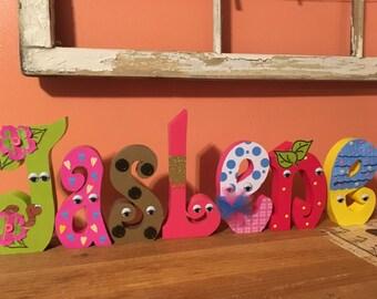 Custom wood letters. Wood letters. Nursery wood letters. Baby shower wood letters. Shopkins wood letters. Shopkins baby shower. Shopkins