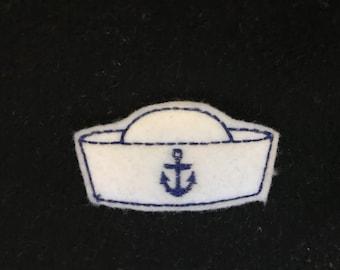 UNCUT Navy sailor hat feltie