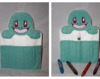 Squirtle crayon holder