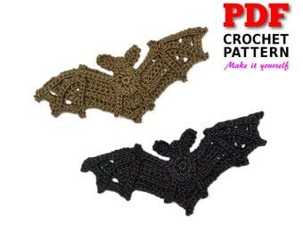 Crochet Pattern | Crochet BAT Applique | Applique Pattern | Crochet Embellishment | PDF Instant Download