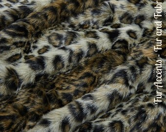 Faux Fur Brown Wild Cat Leopard - Fabric - Shag, Crafts, Sewing, Baby & Pet  Photo Props