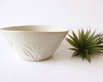 Stoneware Bowl Hand Thrown Gray Bowl Studio Pottery Large Serving Bowl Boho Home Decor