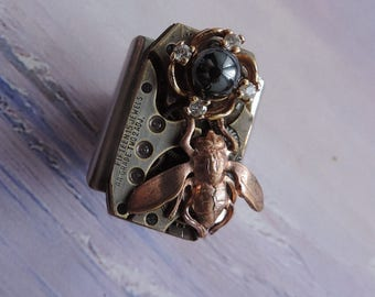 "Steampunk jewelry. Ring steampunk ""Dark side of the Moon"""