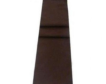 Mocha Brown Table Runner Linen Cotton Feel / Poly Mix