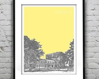 Brockport New York Skyline Poster Art Print New York NY V1
