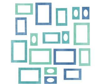 Photo Frame Wall Decals - Fabric Watercolor Frame Wall Decals
