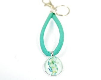 "Keychain ""Atlantis Seahorse"", silver"