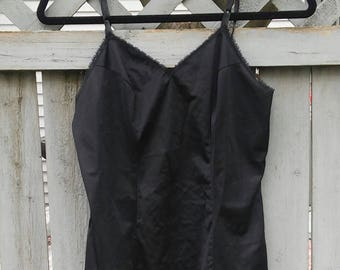 90s Vanity Fair Black Lingerie Top