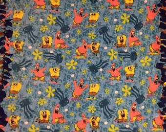 Spongebob Fleece Tie Blanket