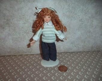 1:12 scale Dollhouse Miniature Porcelain Modern little girl doll