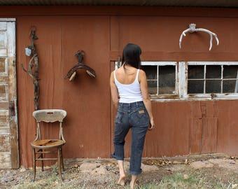Vintage WRANGLER jeans//high waisted jeans//faded black Wrangler jeans
