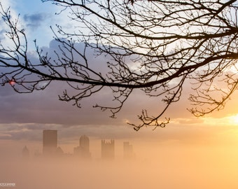 Pittsburgh Sunrise in the Fog