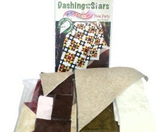 Dashing with the Stars Pixie Party PRECUT Fabric Quilt Kit 61 x 78 Easy