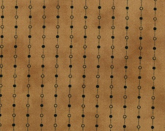 Primitive Gatherings Seasonal Little Gatherings Brown with Black chain and dot Moda Fabric 1060-12