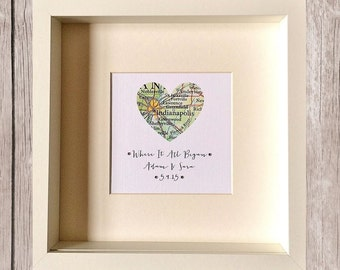 Where It all Began Personalised Frame Wedding/Anniversary/Engagement