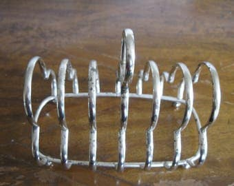 50% Off English Silver Plated Toast Letter Napkin Holder Rack