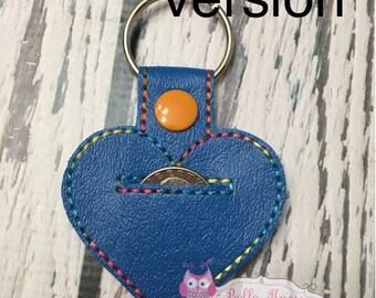 SALE Aldi quarter keeper, Aldi keychain, Aldi heart, aldi keyfob, I love Aldi, Aldi, key chain, quarter holder, heart shaped, BLANK