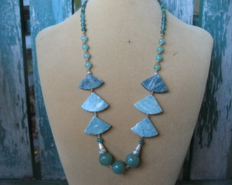 Stunning Agate and Marble Necklace