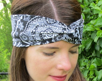 Red Bandana, Red Bandana Headband, Black Bandana, Bandana Headband, Country Music Headband,Beige Bandana Headband, Pitchfork Music Fest