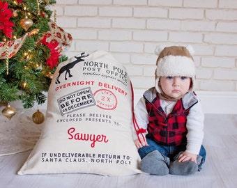 Personalized Santa Sack - Custom Santa Sack- Special Delivery - Custom Santa Bag - Christmas Toy - Unique Gift Wrapping - Gift from Santa