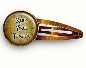 Keep Your Temper Hair Clip