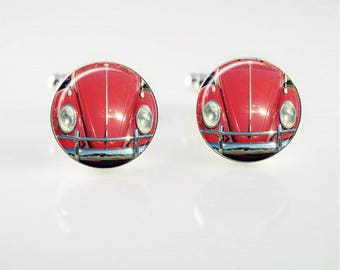 Punch Buggy Red Cuff Links