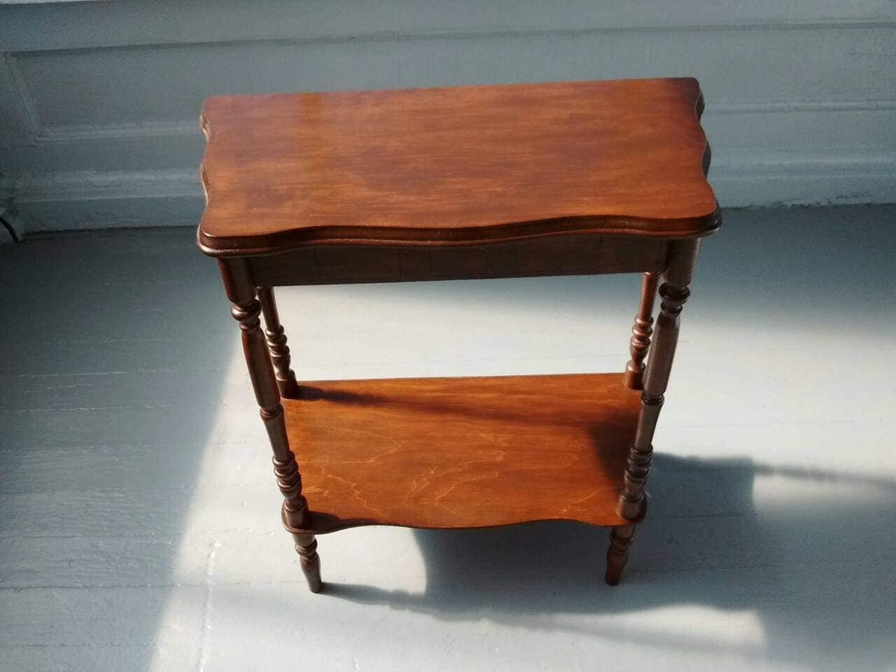 Vintage rustic end table side table sofa table plant for Sofa table for plants
