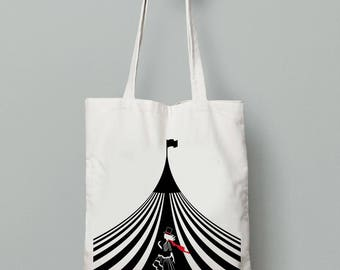 Celia Bowen's Night Circus Tent Cotton Tote bag