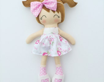 Cloth doll - fabric doll  - handmade doll - rag doll - heirloom doll - lookalike doll - dress up doll - nursery decor - baby gift