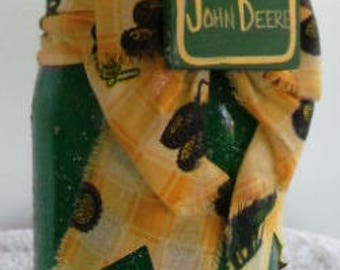 VINTAGE 1980 HANDMADE John Deere Candle Holder NEW  Old Store Stock , Perfect Condition,